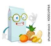 mascot cartoon character juice... | Shutterstock .eps vector #400014964