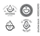 coffee logo set. design...   Shutterstock .eps vector #400024090