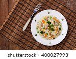classic risotto with mushrooms... | Shutterstock . vector #400027993