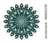 round dark blue and green... | Shutterstock .eps vector #400032250