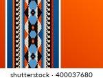 hot orange theme middle eastern ... | Shutterstock .eps vector #400037680