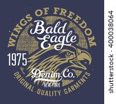 eagle t shirt graphics  ... | Shutterstock .eps vector #400038064