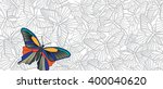 stand out  vector banner with... | Shutterstock .eps vector #400040620