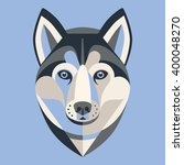 dog husky low poly geometrical  ... | Shutterstock .eps vector #400048270
