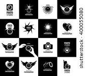 vector logo for photographer | Shutterstock .eps vector #400055080