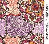 seamless pattern. vintage... | Shutterstock .eps vector #400055350