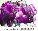 watercolor colorful splash... | Shutterstock . vector #400058224