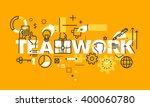 thin line flat design banner... | Shutterstock .eps vector #400060780