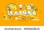 thin line flat design banner... | Shutterstock .eps vector #400060810