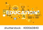 thin line flat design banner... | Shutterstock .eps vector #400060840