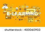 thin line flat design banner... | Shutterstock .eps vector #400060903