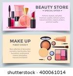 decorative cosmetics poster... | Shutterstock .eps vector #400061014