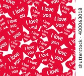 seamless pattern with hearts... | Shutterstock .eps vector #400063018