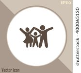 happy family icon in simple... | Shutterstock .eps vector #400065130