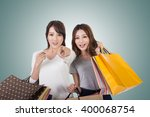 asian shopping woman with her... | Shutterstock . vector #400068754