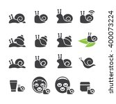 snail icon set | Shutterstock .eps vector #400073224