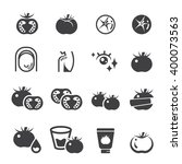 tomato icon set | Shutterstock .eps vector #400073563