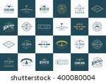 set of vector beach sea bar... | Shutterstock .eps vector #400080004