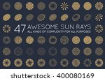 set of sunburst vector rays of... | Shutterstock .eps vector #400080169