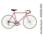 bicycle isolated on white... | Shutterstock .eps vector #400081300