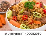 Chinese Noodles With Beef  Mue...