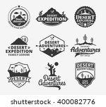 set of vector desert adventures ... | Shutterstock .eps vector #400082776