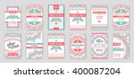 set of vector design awesome... | Shutterstock .eps vector #400087204