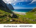 beach kvalvika | Shutterstock . vector #400089580