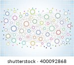 abstract network background... | Shutterstock .eps vector #400092868
