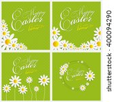 happy easter spring background... | Shutterstock . vector #400094290
