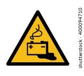 danger from loading batteries... | Shutterstock .eps vector #400094710