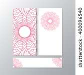 vertical banner templates with... | Shutterstock .eps vector #400096540