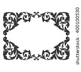 vintage baroque frame scroll... | Shutterstock .eps vector #400100530