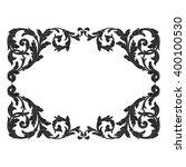 vintage baroque frame scroll... | Shutterstock .eps vector #400100530