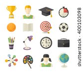 school and education icon set... | Shutterstock .eps vector #400103098