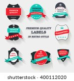 premium quality label set in... | Shutterstock . vector #400112020