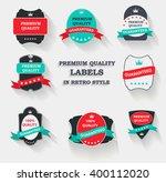 premium quality label set in... | Shutterstock . vector #400112020
