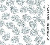 hand drawn seamless vegetable...   Shutterstock .eps vector #400113910