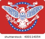 american eagle on red... | Shutterstock .eps vector #400114054