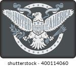 american eagle on grey... | Shutterstock .eps vector #400114060