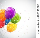 color glossy balloons... | Shutterstock . vector #400115308
