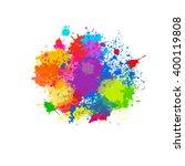 splatter color background and...   Shutterstock .eps vector #400119808