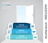 vector 3d arrows infographic.... | Shutterstock .eps vector #400120294