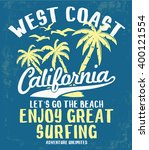 california typography for t... | Shutterstock .eps vector #400121554