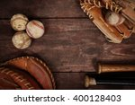 old vintage baseball background.... | Shutterstock . vector #400128403