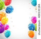 color glossy balloons... | Shutterstock . vector #400131184