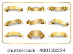 Gold Ribbons Set. Satin Blank...