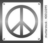 vector hippie stencil | Shutterstock .eps vector #40013395