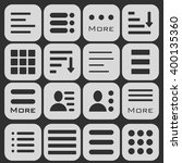 hamburger menu icons set. bar... | Shutterstock . vector #400135360