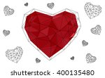 light red heart isolated on... | Shutterstock .eps vector #400135480